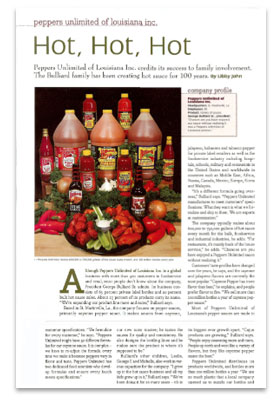 Peppers Unlimited in Food and Drink Magazine