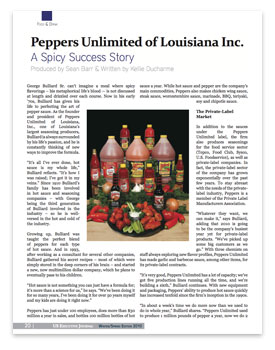Peppers Unlimited in US Executive Journal